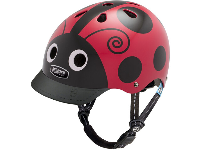 Nutcase Little Nutty Street - Casco de bicicleta Niños - rojo/negro